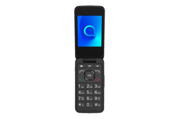 Alcatel 3026 (3G, Keypad, Flip Phone) - Metallic Gray [Au Stock]