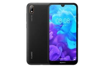 Huawei Y5 2019 (Dual SIM 4G/4G, 32GB/2GB, Faux Leather) - Modern Black [Au Stock]
