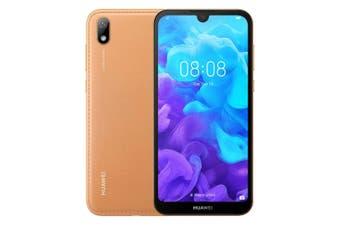 Huawei Y5 2019 (Dual SIM 4G/4G, 32GB/2GB, Faux Leather) - Amber Brown [Au Stock]