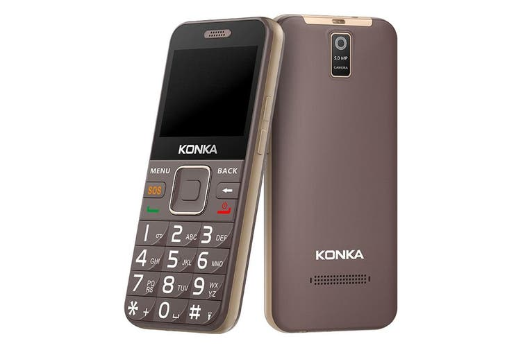 Konka U6 (3G, Keypad, 5MP) - Mocha Gold [Au Stock]