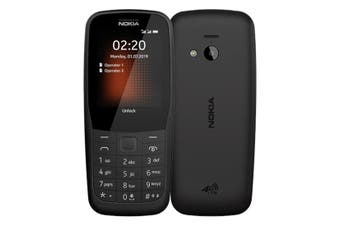 Nokia 220 (4G Only, Keypad) - Black [Au Stock]
