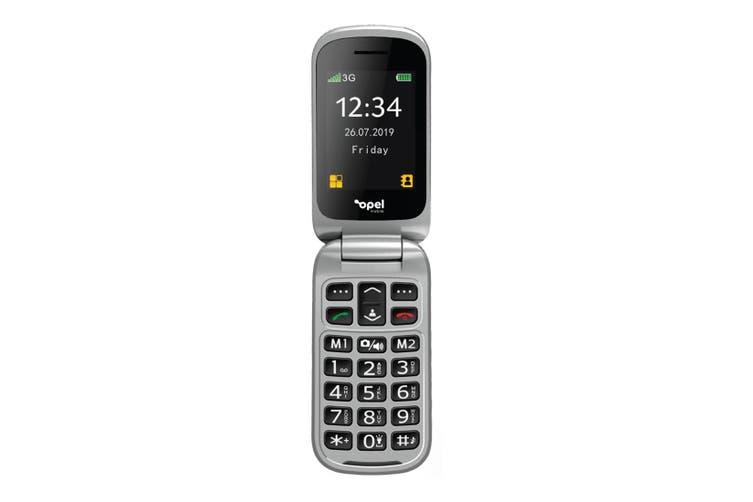 Opel Flip Phone 2 (3G, Keypad) - Black [Au Stock]