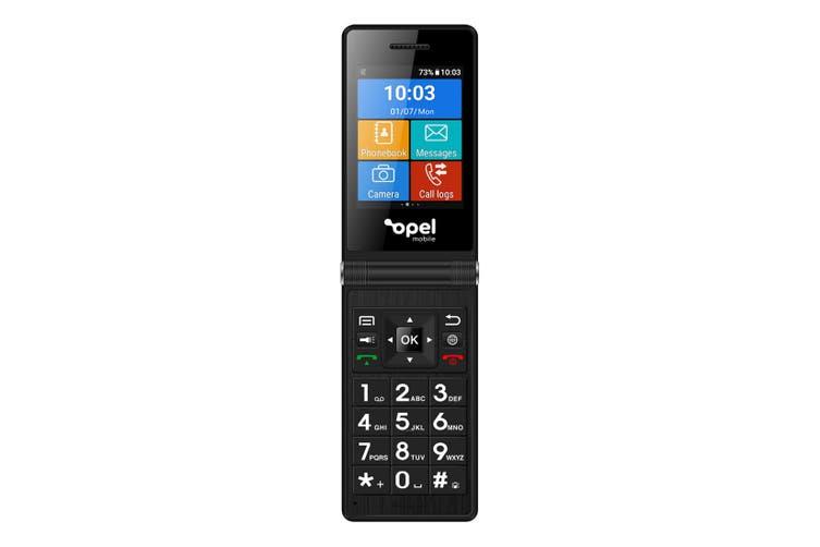 Opel Mobile SmartFlip (4G/LTE, Keypad) - Black [Au Stock]