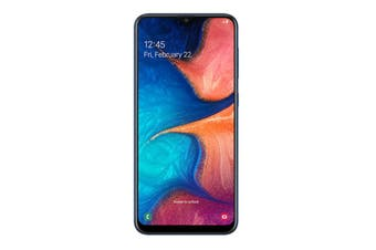 "Samsung Galaxy A20 (6.4"", 13MP, 32GB) - Blue"