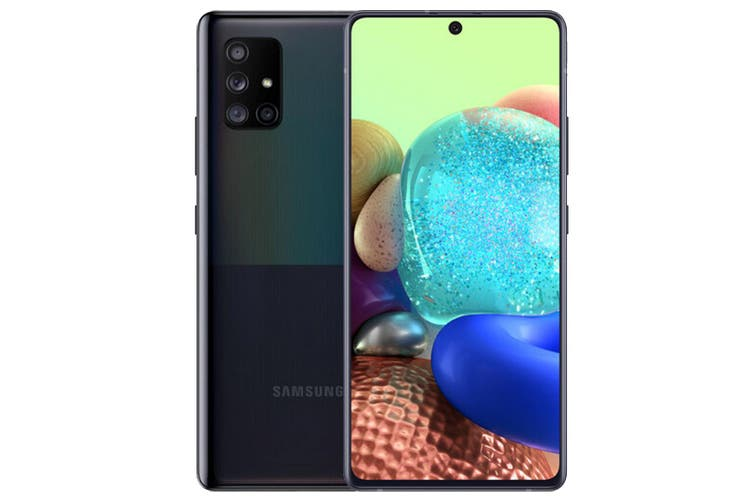 """Samsung Galaxy A71 5G  (Single Sim, 128G/8GB, 6.7"""", 64MP) - Black [Au Stock]"""