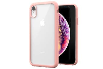 ZUSLAB iPhone XR Case Tough Fusion Shock Absorption Rubber Bumper Protective Case Transparent Hard Back Clear Cover for Apple - Matte Pink