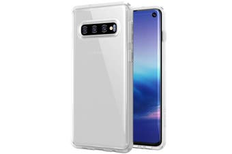 ZUSLAB Galaxy S10 Tough Fusion Case Shockproof with Transparent Back Cover for Samsung - Matte White