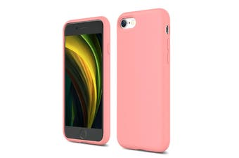 Tough On iPhone SE 2020 / 8 / 7 Liquid Silicone Mobile Phone Case - Pink