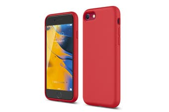 Tough On iPhone SE 2020 / 8 / 7 Liquid Silicone Mobile Phone Case - Red