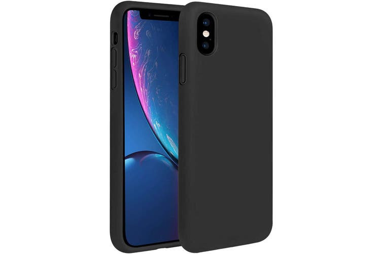 ZUSLAB iPhone X/XS Case Nano Silicone Shockproof Gel Rubber Bumper Protective Cover for Apple - Black