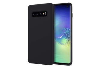 ZUSLAB Galaxy S10 Nano Silicone Case Shockproof Gel Rubber Bumper Protective Cover for Samsung - Black