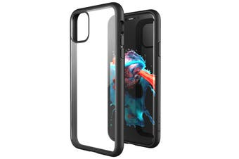 ZUSLAB iPhone 11 Pro Case Tough Fusion Shock Absorption Rubber Bumper Protective Transparent Hard Back Clear Cover for Apple - Black