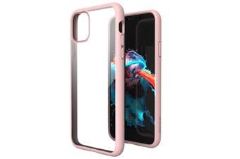 ZUSLAB iPhone 11 Case Tough Fusion Shock Absorption Rubber Bumper Protective Transparent Hard Back Clear Cover for Apple - Pink
