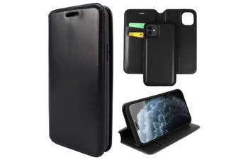 ZUSLAB iPhone 11 Leather Wallet Case Detachable Kickstand Magnetic with Credit Card Holder Slot & Shockproof Interior Protective Cover - Black
