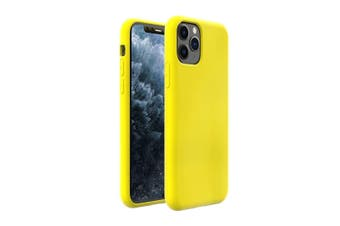 ZUSLAB iPhone 11 Pro Max Case Nano Silicone Shockproof Gel Rubber Bumper Protective Cover for Apple - Yellow
