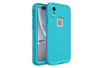Lifeproof iPhone XR FRE Case Waterproof Dirtproof Snowproof Dropproof Cover for Apple - Blue & Orange Boosted