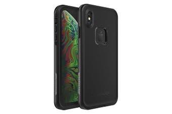Lifeproof iPhone XS Max FRE Case Waterproof Dirtproof Snowproof Dropproof Cover for Apple - Black & Grey Asphalt
