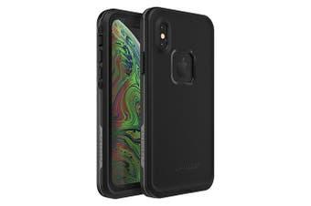 Lifeproof iPhone X/XS FRE Case Waterproof Dirtproof Snowproof Dropproof Cover for Apple - Black & Grey Asphalt