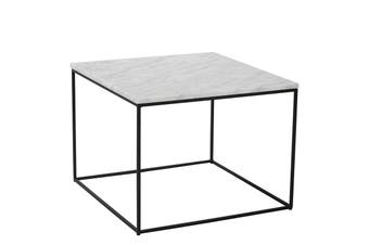 LUCIO Marble Coffee Table 60cm - White