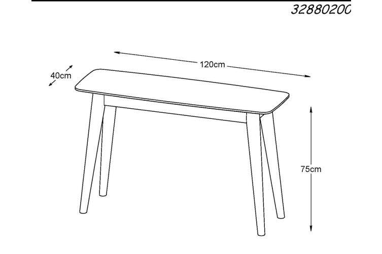 JAREL Console Table 120cm -  Natural
