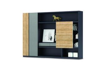 DANTE Display Cabinet 2.8M - Kadi & Grey