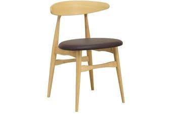 Telyn Dining Chair - Oak + Mocha