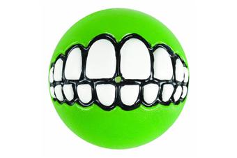 Rogz Grinz Dog Ball Toy, Lime