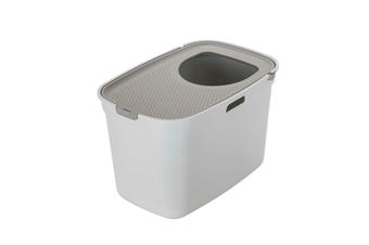 Top Entry Litter Box, Moderna Top Cat - White/ Warm Grey