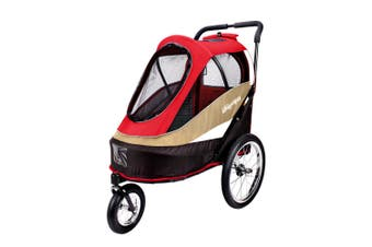 Ibiyaya Happy Bicycle Pet Stroller Jogger & Dog Carrier for Bikes, Red