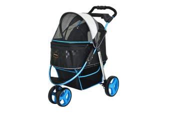 Ibiyaya Monarch Premium Pet Jogger Stroller, Blue F1 Moto