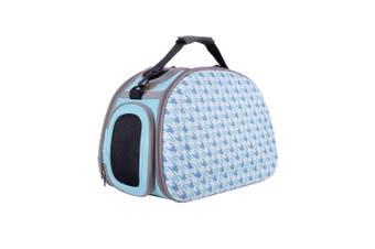 Ibiyaya Collapsible Travelling Shoulder Pet Carrier Bag, Chidori (Blue)