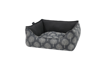 Bolster Dog Bed, Tree Print Grey - Large (75cm)