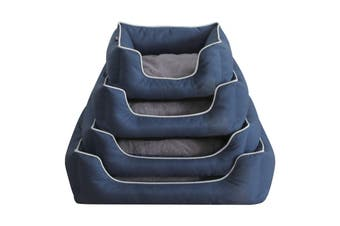 Luxury Dog Bed, Classic Navy Blue - Large (75cm)