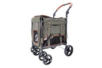 Ibiyaya Gentle Giant Pet Wagon Dog Cat Pram Carrier, Army Green