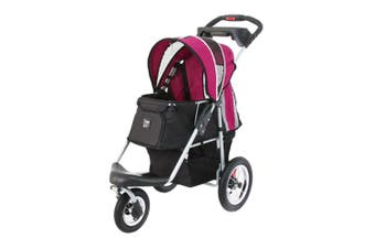 Ibiyaya Turbo Pet Carrier Pram Jogger, Black Pink