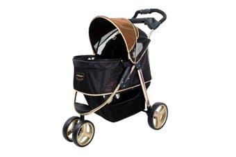 Ibiyaya Monarch Premium Pet Jogger Stroller, Luxury Gold