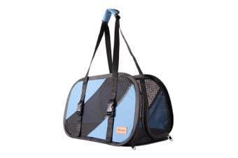 Ibiyaya Flying Pal Foldable Pet Travel Carrier Bag, Blue
