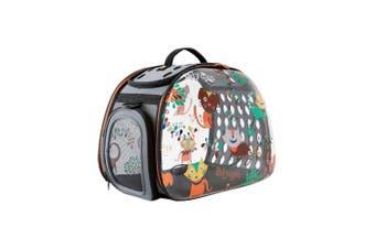 Ibiyaya Dog & Cats Transparent Hard Case Carrier, Foldable Pet Bag