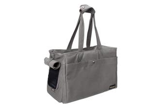 Ibiyaya Canvas Pet Tote Bag Soft Pet Carrier, Grey