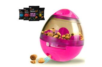 Dog Treat Dispenser Toy w/ Bonus Puppy Snacks, Pink