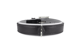 Hunter Canadian Elk Leather Dog Collar, Grey - 65 (50-56cm)