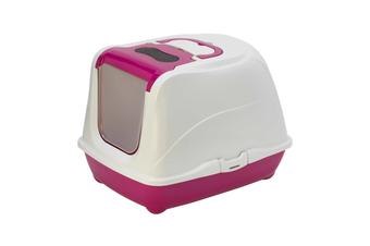 Moderna Flip Cat Enclosed Cat Litter Box, Hot Pink