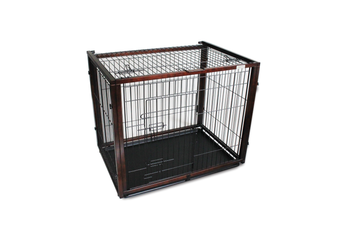 Simply Plus Wooden Dog Crate w/ Sliding Top