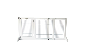 Simply Plus Freestanding Pet Gate, White - Small