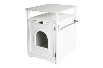 Jasper Cat Litter Cabinet, White