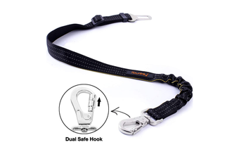 iBuddy Dog Seat Belt for Cars with Locking Carabiner