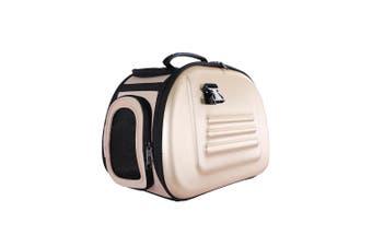 Ibiyaya Classic EVA Collapsible Pet Carrier Bag, Beige