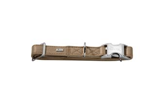 Hunter Capri Pearl Alu-Strong Leather Dog Collar Clasp Buckle - Stone / S (30-45cm)