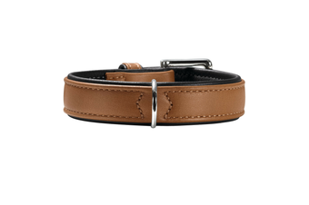 Hunter Canadian Elk Leather Dog Collar, Cognac - 60 (46-52cm)