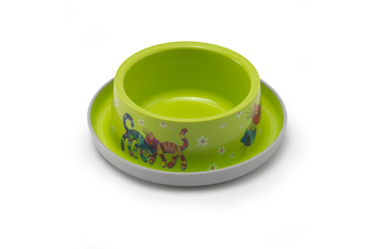 Moderna Friends Forever Ant Proof Cat Bowl - 350ml / Fun Green